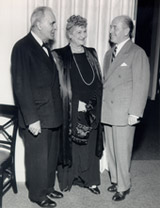 Alma with Bruno Walter and Eugene Ormandy (1948)